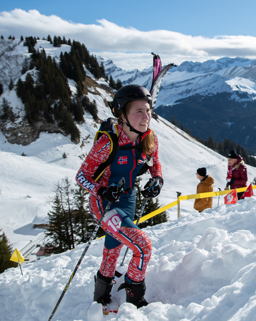Kari Forseth (NOR) ski mountaineering Lausanne 2020 OIS
